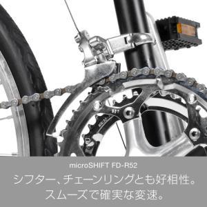 ミニベロ ロード 20インチ 自転車 本体 16段変速 シマノ CDR216 a.n.design works アウトレット カンタン組立|nextbike|06