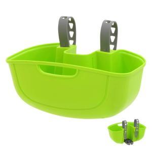 OGK技研 FB-051 黄緑 サイクルポケット フロント用バスケット 快適に荷物を運べるフロントタイプ|nextbike
