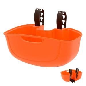 ポイントアップ OGK技研 FB-051 オレンジ サイクルポケット フロント用バスケット 快適に荷物を運べるフロントタイプ nextbike