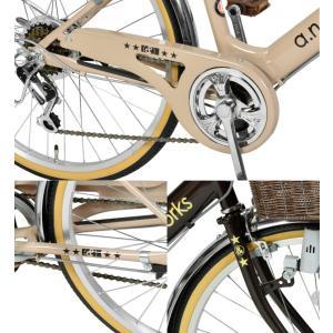 自転車 子供 22インチ 本体 安い 小学生 男の子 女の子 変速 125cm〜 V226 a.n.design works アウトレット カンタン組立|nextbike|05