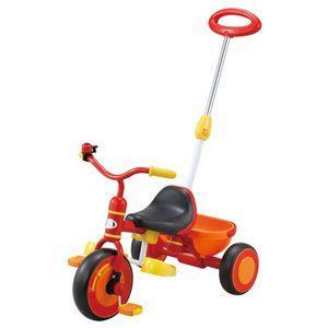 ides アイデス かる〜くこげる 押手棒付 三輪車 レッド 押し棒付三輪車 YA-1500|nextcycle