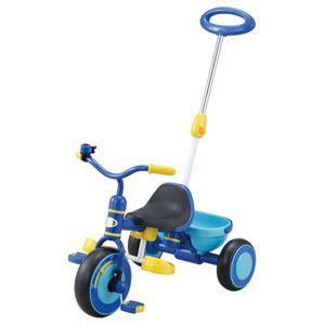 ides アイデス かる〜くこげる 押手棒付 三輪車 ブルー 押し棒付三輪車 YA-1501|nextcycle