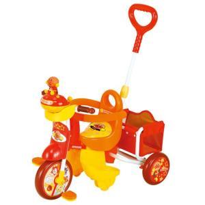 それいけ!アンパンマン アドバンスGooおしゃべりブザー付三輪車YA-1613 カジキリ機能付 舵取り機構付押し棒付三輪車 送料無料|nextcycle