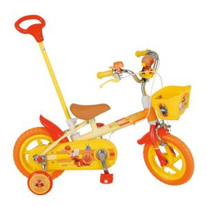 アンパンマン舵取り機能付き手押し棒付 12インチ YA-1264  それいけ!アンパンマン12D(1300) 子供用自転車(エム・アンド・エム株式会社)|nextcycle
