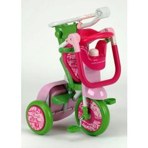 NEW ベネトン BENETTON カジキリ機能付簡単折畳み三輪車ピンク&グリーン  Oritrio Tricycle2|nextcycle