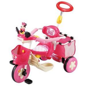 ポイント5倍 ディズニー♪ミニー ベネトン  おしゃべりカーゴ三輪車 ミニー ピンク 1142 でっかいかご付|nextcycle