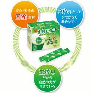 国産素材 生搾り青汁 大麦若葉+6種類の野菜 90g (3g×スティック30本)|nextmove