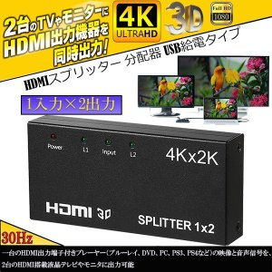 HDMI 分配器 2画面同時出力可能 4K 30Hz 2160P 1入力2出力 hdmiセレクター ...