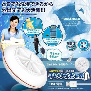 手のひら洗濯機 本体のみ 出張 手洗い 水流 超音波 シミ取り シミ抜き 携帯用 ミニ洗濯機 ランドリー 小型 旅行 USB TENOSEN