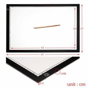 トレース台 LED A3 ライトテーブル 薄型 調光 可能 USB 給電 イラスト 絵写し 漫画 測量 アニメ 目盛り付き TRACELED|nexts|05