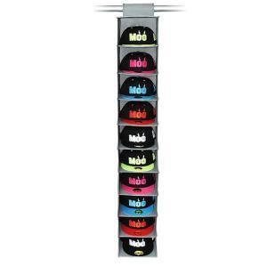帽子 10個 吊り下げ収納 ディスプレイ キャップラック 折りたたみ 多機能 大容量 10段 省スペ...