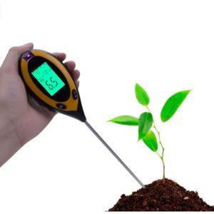 土壌テスター  デジタル土壌酸度計4-in-1土壌照度/水分含有量/温度測定 PHテスター 土壌測定...
