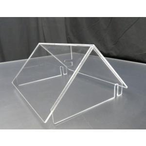 20×16cm小型展示水槽用 ひさしの飛び出した三角屋根|nexxtshop