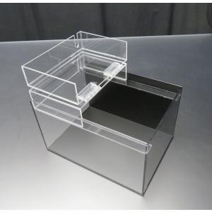 小型展示水槽 幅25cm×奥行18cm×高さ17cm 底・バック黒マット|nexxtshop