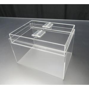 小型展示水槽 幅25cm×奥行18cm×高さ17cm 底・バック透明マット(すりガラス調)|nexxtshop