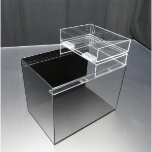 小型展示水槽 幅30cm×奥行20cm×高さ25cm 底・バック黒マット|nexxtshop