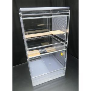 50×50×93cm デグーマウス・チンチラケージ 平面フタ 2面パンチング|nexxtshop