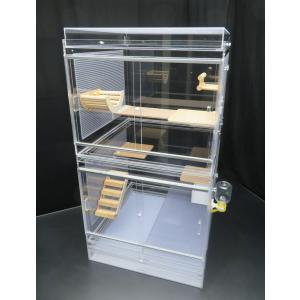 50×50×93cm デグーマウス・チンチラケージ 平面フタ 2面パンチング スペシャルセット キャスター架台付き|nexxtshop