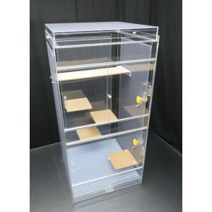 デグーマウス・チンチラ 大型べシックケージ 45×45×93cm 3面パンチング 平面フタ|nexxtshop