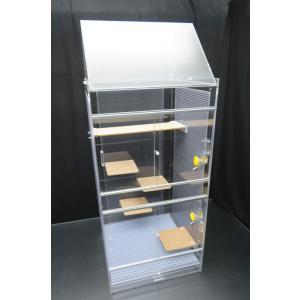 デグーマウス・チンチラケージ 大型ベーシックケージ 50×50×123cm 3面パンチング 三角屋根|nexxtshop