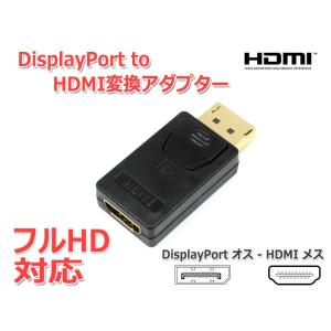 DisplayPort to HDMI変換アダプター フルHD対応[金メッキ]|nfj