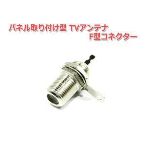 パネル取り付け型 TVアンテナ F型コネクター『メス』機器側|nfj