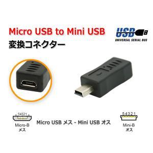 MicroUSB(メス) to MiniUSB(オス)変換コネクター アダプター|nfj