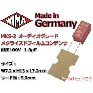 WIMA メタライズドポリエステルフィルムコンデンサ2本組100V1μF|nfj