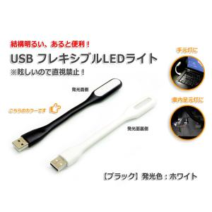 USB フレキシブルLEDライト『ブラック』発光色:ホワイト|nfj