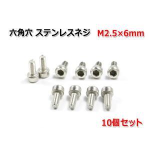 六角穴 ステンレスネジ 『M2.5×6mm』 10個セット|nfj