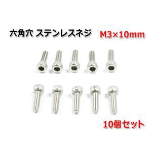 六角穴 ステンレスネジ 『M3×10mm』 10個セット|nfj