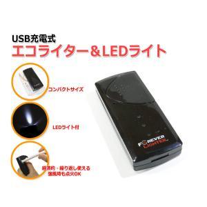 USB充電式エコライター&LEDライト メール便OK|nfj