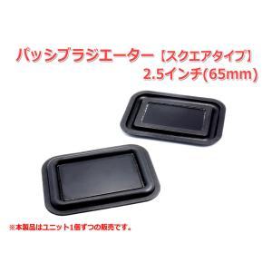 レア!2.5インチ(65mm)パッシブラジエーター スクエアタイプ [スピーカー自作/DIYオーディオ] 在庫小|nfj