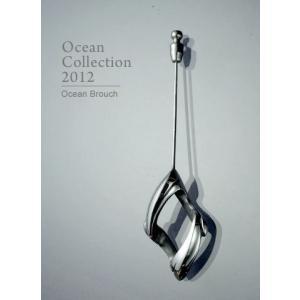 ブローチ シルバー Ocean Brouch オーシャン ブローチ|nfw