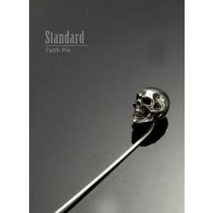ネクタイピン タイピン Skull M Type Pin スカル エム タイプ ピン|nfw