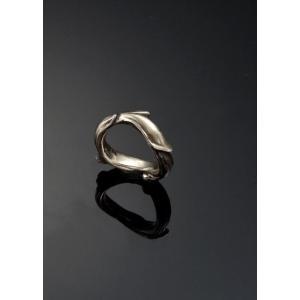 リング スカルリング Marrow Ring 【Brass】マロー リング ブラス 骨 植物 真鍮|nfw