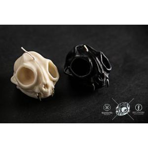 キャンドル ろうそく Bobcat Skull Candle (with Teeth Earring) ボブキャット スカル キャンドル ウィズ ティース イヤリング|nfw