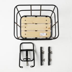 自転車 パーツ ミニベロ用バスケット&キャリア Mini Velo 2WD 両輪駆動 二輪駆動 【DOUBLE】|nfw