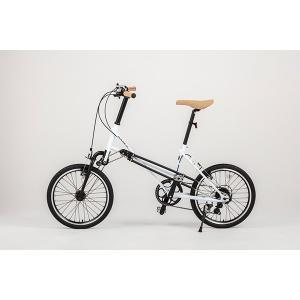 自転車 ミニベロ Mini Velo 2WD 両輪駆動 二輪駆動 【DOUBLE】  (20インチ)  BlueWhite 白 ダブル 【関東配送無料】|nfw