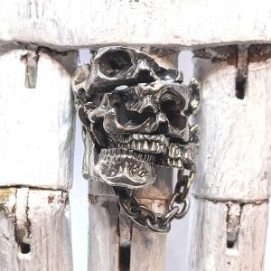 [2019新作!]  指輪 スカルリング 【Apartment】 アパートメント スカル skull skullring メンズ ドクロ リアル|nfw