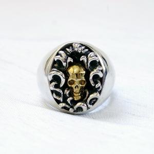 [2019新作!]  指輪 スカルリング 【Gradivus】 グラディウス スカル skull skullring メンズ ドクロ リアル|nfw