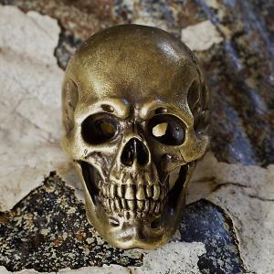 指輪 スカルリング Heritage ヘリテージ 真鍮バージョン スカル skull skullring brass メンズ どくろ 格安 リアル |nfw