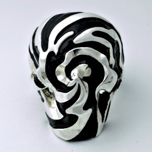 指輪 スカルリング [Ying Yang] 陰陽 インヤン skull skullring 漆 うるし スカル どくろ アクセサリー|nfw