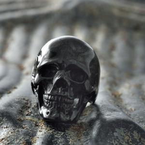 指輪 スカルリング GRYPHON SMALL SKULL RING【Black Rhodiumu Coating】グリフォン スモール スカル リング|nfw