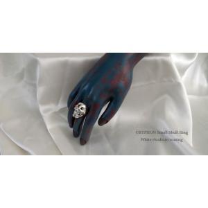 指輪 スカルリング GRYPHON SMALL SKULL RING【White Rhodium Coating】グリフォン スモール スカル リング|nfw