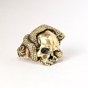 指輪 スカルリング 蛇 スネーク  ヘビ Eternity【真鍮】エタニティ|nfw