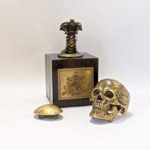 指輪 スカルリング GRYPHON Anatomical Skull Ring[A]【真鍮】グリフォン アナトミカル スカル リング|nfw