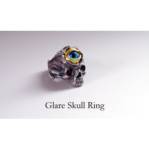 指輪 スカルリング Glare Skull グレア スカル 義眼 evil eye|nfw