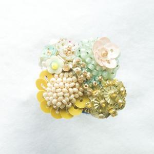 指輪 ビーズ フェルト オールハンドメイド 日本製 てづくり 一点限り 【送料変わります】 nfw