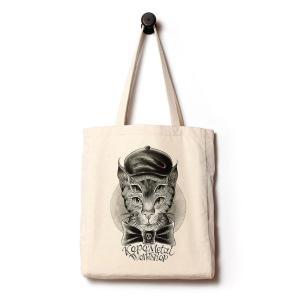 キャンバスバッグ 4つ目ネコ かばん 猫 雑貨 グッズ|nfw